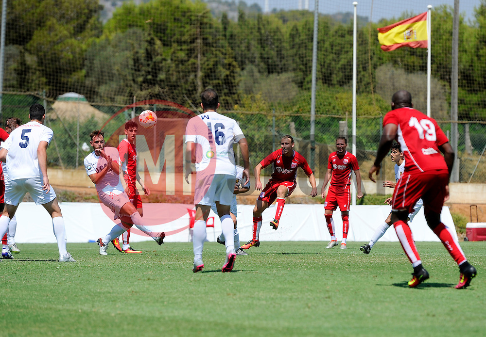Luke Freeman of Bristol City shoots  - Mandatory by-line: Joe Meredith/JMP - 22/07/2016 - FOOTBALL - La Manga Training Ground - La Manga, Murcia - UCAM v Bristol City - Pre-season friendly