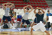 DESCRIZIONE : Varese Ritiro Nazionale Italiana Maschile Preparazione Eurobasket 2007 Allenamento <br /> GIOCATORE : Denis Marconato Marco Mordente<br /> SQUADRA : Nazionale Italia Uomini <br /> EVENTO : Varese Ritiro Nazionale Italiana Uomini Preparazione Eurobasket 2007 <br /> GARA : <br /> DATA : 17/08/2007 <br /> CATEGORIA : Allenamento<br /> SPORT : Pallacanestro <br /> AUTORE : Agenzia Ciamillo-Castoria/G.Cottini<br /> Galleria : Fip Nazionali 2007 <br /> Fotonotizia : Varese Ritiro Nazionale Italiana Maschile Preparazione Eurobasket 2007 Allenamento<br /> Predefinita :