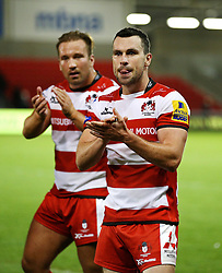 Gloucester players applaud the fans at full time - Mandatory by-line: Matt McNulty/JMP - 16/09/2016 - RUGBY - Heywood Road Stadium - Sale, England - Sale Sharks v Gloucester Rugby - Aviva Premiership