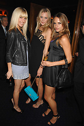 Left to right, AYESHA MAKIM neice of Sarah, Duchess of York, LISA HENREKSON and NATHALIE BOMGREN at a party to celebrate the publication of the 2007 Tatler Little Black Book held at Tramp, 40 Jermyn Street, London on 7th November 2007.<br />