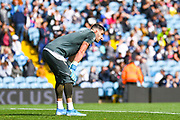 Leeds United goalkeeper Francisco Casilla (13) warming up during the EFL Sky Bet Championship match between Leeds United and Swansea City at Elland Road, Leeds, England on 31 August 2019.