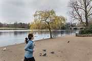 London, England, Uk, November 26 2018 - In the footsteps of Claude Monet in London: Hyde Park in western London, near the place where he stayed when he arrived for the first time in 1870.