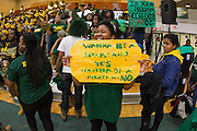 Norfolk State loyal fans during the Norfolk State - Hampton 2013 MEAC women's basketball game at the Echols Hall in Norfolk, Virginia.  January 26, 2013  Hampton won 76-41.  (Photo by Mark W. Sutton)