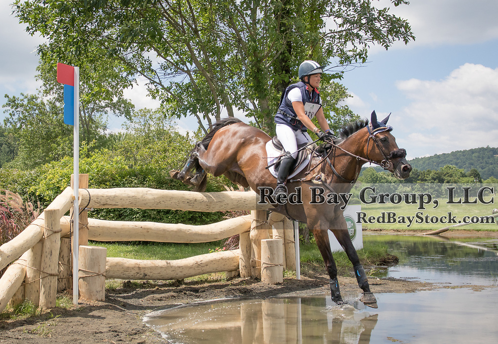 Lynn Symansky riding Donner competes in the Cross Country phase of the 2016 Land Rover Great Meadow International on Sunday, July 10, 2016, at the Great Meadow Foundation in The Plains, VA.