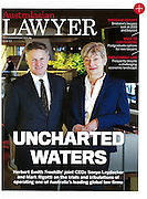 Australasian Lawyer Magazine portraits of joint CEO's Sonya Leydecker and Mark Rigotti, Sydney