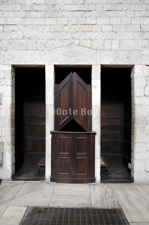 build in wall confession box