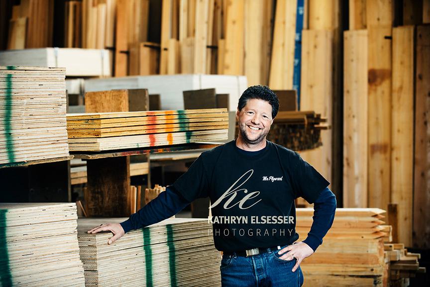 Business Portrait of Bret Branter owner of Mr Plywood in Montavilla Business District