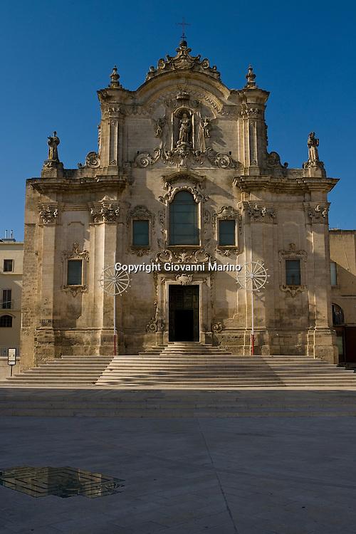 Matera, Basilicata, Italy - Church of San Francesco d'Assisi in Matera.