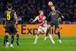 10-04-2019 NED: Champions League AFC Ajax - Juventus,  Amsterdam<br /> Round of 8, 1st leg / Ajax plays the first match 1-1 against Juventus during the UEFA Champions League first leg quarter-final football match / Matthijs de Ligt #4 of Ajax, Cristiano Ronaldo #7 of Juventus