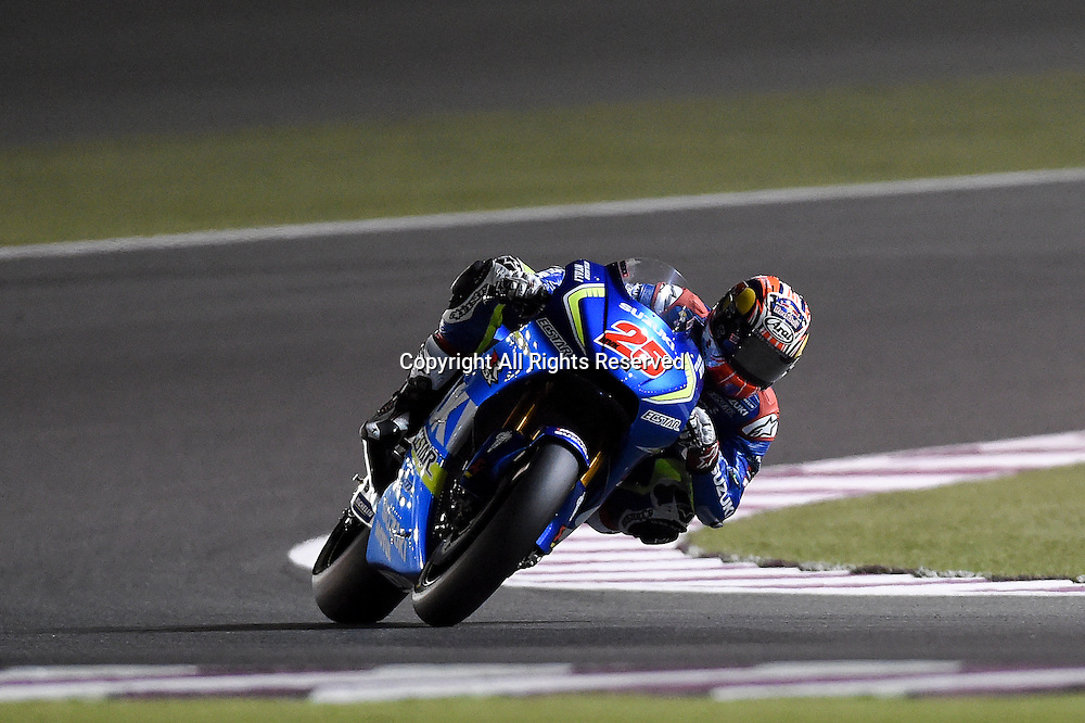 17.03.2016. Losail International Circuit, Doha, Qatar. Commercial Bank Grand Prix of Qatar.Maverick Vinales(Suzuki Ecstar) during the free practice sessions.