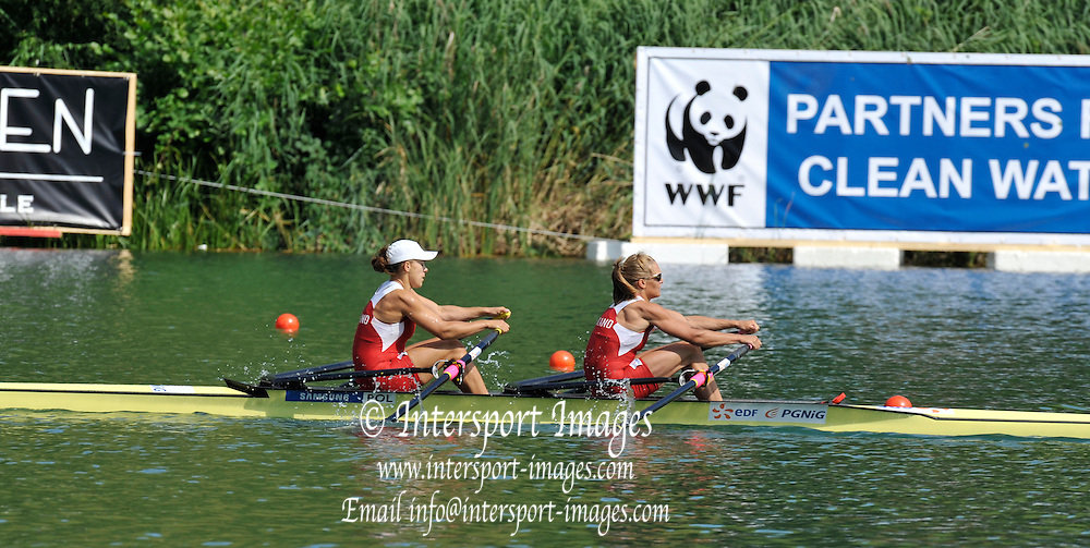 Lucerne SWITZERLAND,   POL W2X. Bow, Magdalena FULARCZYK and Julia MICHALSKA  at the 2011 FISA World Cup on the Lake Rotsee. Friday   08/07/2011   [Mandatory Credit Peter Spurrier/ Intersport Images]