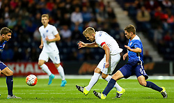 James Ward-Prowse of England U21is closed down by Wil Trapp of USA U23  - Mandatory byline: Matt McNulty/JMP - 07966386802 - 03/09/2015 - FOOTBALL - Deepdale Stadium -Preston,England - England U21 v USA U23 - U21 International