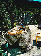 Man sleeping outside on a sofa Ibiza 1998