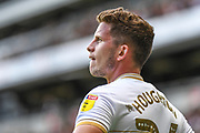 Milton Keynes Dons midfielder Jordan Houghton (24) during the EFL Sky Bet League 1 match between Milton Keynes Dons and Shrewsbury Town at stadium:mk, Milton Keynes, England on 10 August 2019.