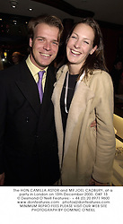 The HON.CAMILLA ASTOR and MR JOEL CADBURY, at a party in London on 13th December 2000.	OKF 13