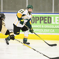 3rd year defence man Tamara McVannel (23) of the Regina Cougars in action during the Women's Hockey home game on January 27 at Co-operators arena. Credit: Arthur Ward/Arthur Images