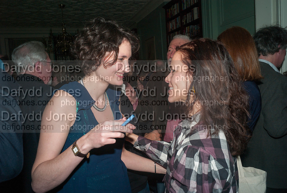 LARA FEIGEL; DEVORAH BAUM;  The Love-charm of Bombs. Restless Lives in the Second World War. By Lara Feigel - book launch party. Bloomsbury Publishing, 50 Bedford Square, London, WC1, 17 JANUARY 2012.