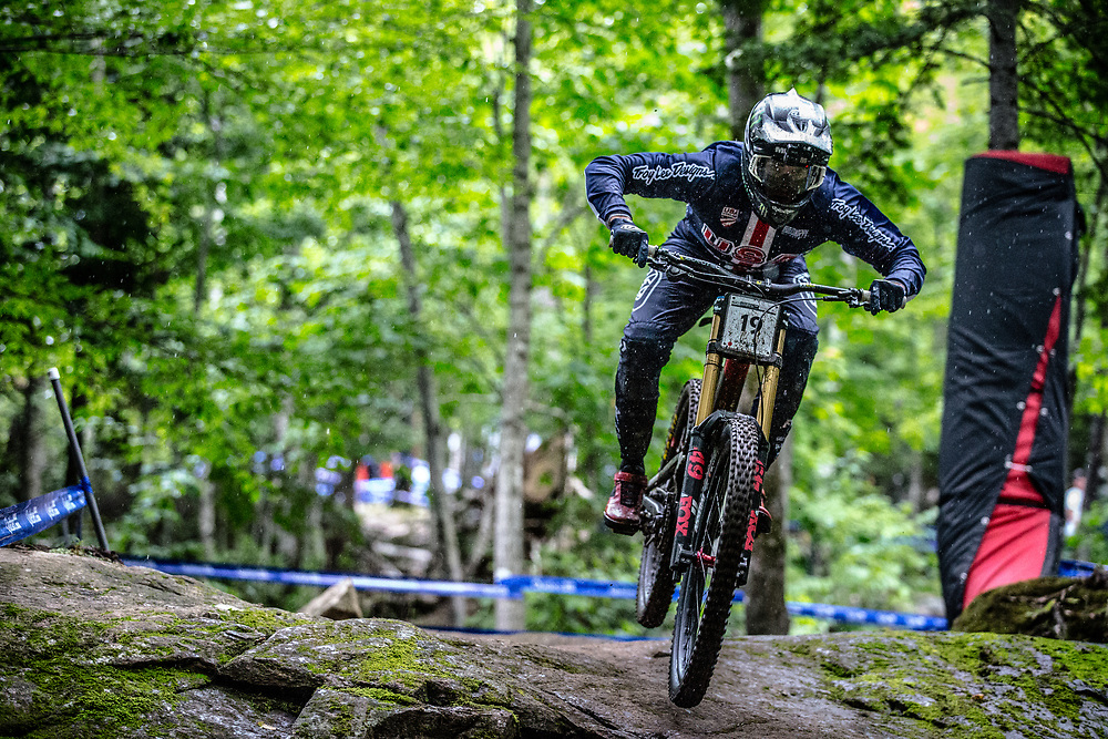 SHAW Luca (USA) at the Mountain Bike World Championships in Mont-Sainte-Anne, Canada.