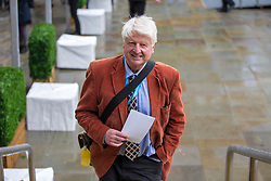 © Licensed to London News Pictures. 01/10/2019. Manchester, UK. Stanley Johnson father of Prime Minister Boris Johnson this morning on the third day of the Conservative Party Conference at Manchester Central in Manchester. Photo credit: Andrew McCaren/LNP