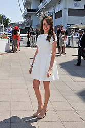 KATIE KING daughter of Carol Vorderman at the Investec Derby at Epsom Racecourse, Epsom Downs, Surrey on 4th June 2011.