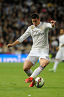 Real Madrid´s James Rodriguez during 2014-15 La Liga match between Real Madrid and Malaga at Santiago Bernabeu stadium in Madrid, Spain. April 18, 2015. (ALTERPHOTOS/Luis Fernandez)
