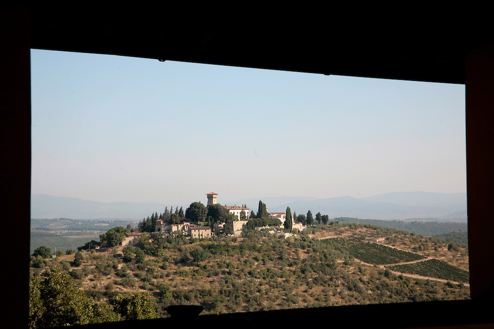 Castello Verrazzano winery, (view from winery) Tuscany, Italy, Frommer's Italy Day By Day