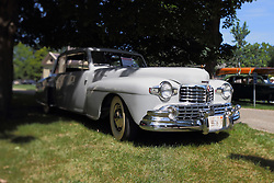 01 August 2015:  1948 Lincoln Continental V12 - Rand & Jane Middleton.<br /> <br /> Displayed at the McLean County Antique Automobile Association Car show at David Davis Mansion in Bloomington Illinois