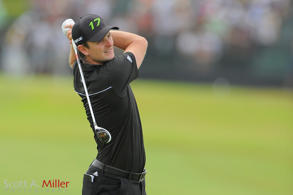 Justin Rose during the second round of the World Golf Championship Cadillac Championship on the TPC Blue Monster Course at Doral Golf Resort And Spa on March 9, 2012 in Doral, Fla. ..©2012 Scott A. Miller.