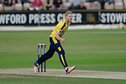 Brad Taylor of Hampshire during the NatWest T20 Blast South Group match between Hampshire County Cricket Club and Somerset County Cricket Club at the Ageas Bowl, Southampton, United Kingdom on 29 July 2016. Photo by David Vokes.