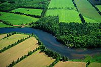 The northern coastline of Prince Edward Island, Canada