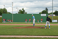 """Home of the Muskrats baseball team at Robbie Mills Field now sports a """"Green Monster"""" with the collaborative efforts of Lakes Region Home Builders."""