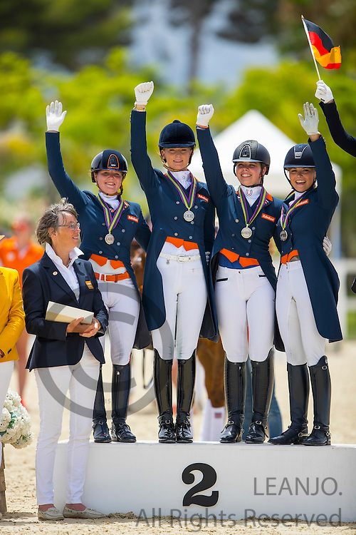 Podium Young Riders<br /> European Championships Dressage 2016<br /> &copy; DigiShots