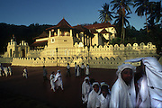 Dalada Maligawa. The Temple of the Tooth in Kandy is the most important Buddhist temple on the island.