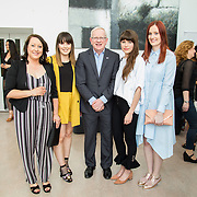 11.05. 2017.                                                 <br /> Over 20 leading Irish and international fashion media and influencers converged on Limerick for 24 hours on, Thursday, 11th May for a showcase of Limerick's fashion industry, culminating with Limerick School of Art & Design, LIT, presenting the LSAD 360° Fashion Show, sponsored by AIB.<br /> Pictured at the event were, Prof. Vincent Cunnane, President LIT with LSAD graduates, Imelda Hoare, Lauren McElvaney, Lauren Regan and Grainne Wilson. Picture: Alan Place