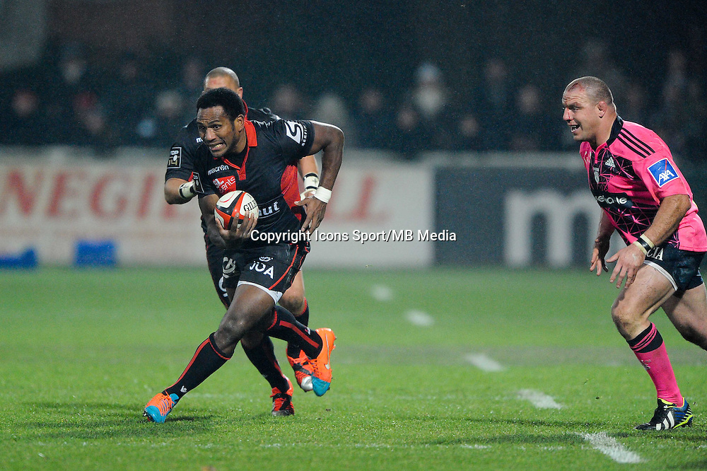 Mosese Ratuvou - 02.01.2015 - Lyon OU / Stade Francais - 15eme journee de Top 14 <br />Photo : Jean Paul Thomas / Icon Sport