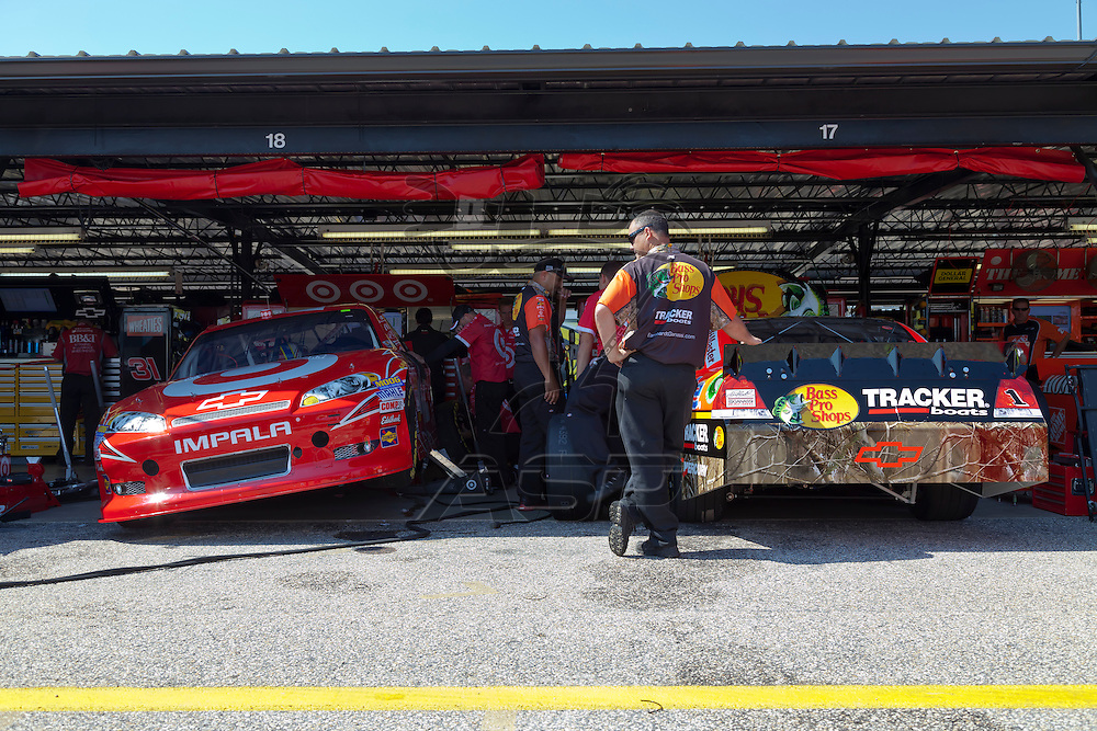 DARLINGTON, SC - MAY 11, 2012:  The NASCAR Sprint Cup teams take to the track for a practice session for the Bojangles Southern 500 at the Darlington Raceway in Darlington, SC.