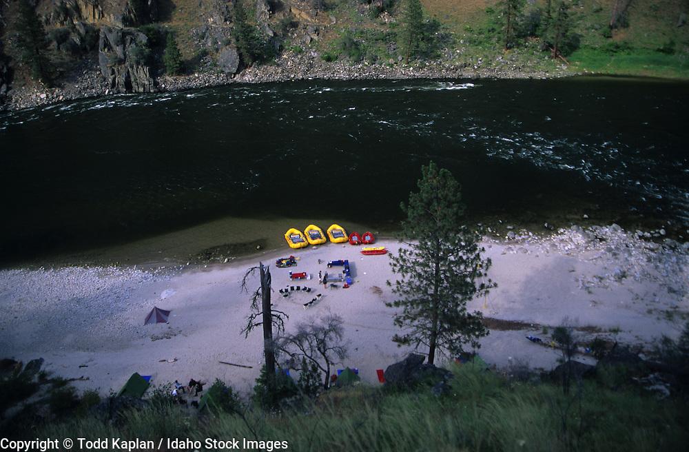 Idaho.  Salmon River.  Frank Church river of no Return Wilderness.  Rafting.