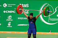 Ashgabat 2017 - 5th Asian Indoor & MartialArts Games 24-09-2017. Weightlifting womens 90kg - Huda Salim Al-Saedi (IRQ) competes in snatch