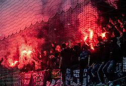 Viole, supporters of Maribor during Football match between NK Olimpija and NK Maribor in 23rd Round of Prva liga Telekom Slovenije 2018/19 on March 16, 2019, in SRC Stozice, Ljubljana, Slovenia. Photo by Vid Ponikvar / Sportida
