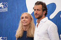 Franca Sozzani and Director Francesco Carrozzini at the Franca: Chaos And Creationt film photocall at the 73rd Venice Film Festival, Sala Grande on Friday September 2nd 2016, Venice Lido, Italy.