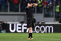 Antonio Candreva Lazio delusione Dejection <br /> Roma 17-03-2016 Stadio Olimpico Football Europa League Round of 16 second leg 2015/2016 Lazio - Sparta Praha. Foto Antonietta Baldassarre / Insidefoto