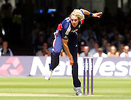 Photo © ANDREW FOSKER / SECONDS LEFT IMAGES 2008  - Bowling Stuart Broad follows through from his delivery  England v New Zealand Black Caps - 5th ODI - Lord's Cricket Ground - 28/06/08 - London -  UK - All rights reserved