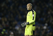 Wolverhampton Wanderers goalkeeper Carl Ikeme (1) during the Sky Bet Championship match between Brighton and Hove Albion and Wolverhampton Wanderers at the American Express Community Stadium, Brighton and Hove, England on 1 January 2016.