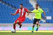 Edil Rami of Sevilla on the ball during the Pre-Season Friendly match between Brighton and Hove Albion and Sevilla at the American Express Community Stadium, Brighton and Hove, England on 2 August 2015. Photo by Phil Duncan.