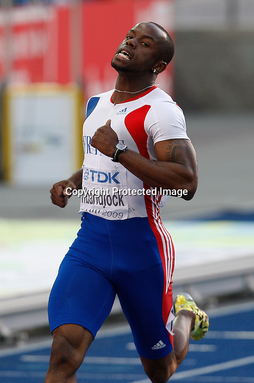 200 Metres Men Semifinal<br />Martial Mbandjock of France during the 12th IAAF Athletic World Championships at the Olympic Stadium in Berlin, Germany, 19 August 2009. Photo: Piotr Hawalej / WROFOTO / PHOTOSPORT