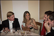 GEORGE PEARSON; ELEONORE DECAUX, VERE HARMSWORTH, Oxford University Polo club Ball, Blenheim Palace. Woodstock. 6 March 2015