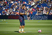 Gianluigi BUFFON (PSG) at warm up, reacts thumbs up during the French championship L1 football match between Paris Saint-Germain (PSG) and SCO Angers, on August 25th, 2018 at Parc des Princes Stadium in Paris, France - Photo Stephane Allaman / ProSportsImages / DPPI