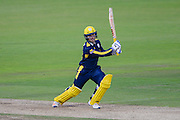 Lewis McManus of Hampshire during the Royal London One Day Cup match between Hampshire County Cricket Club and Somerset County Cricket Club at the Ageas Bowl, Southampton, United Kingdom on 2 August 2016. Photo by David Vokes.