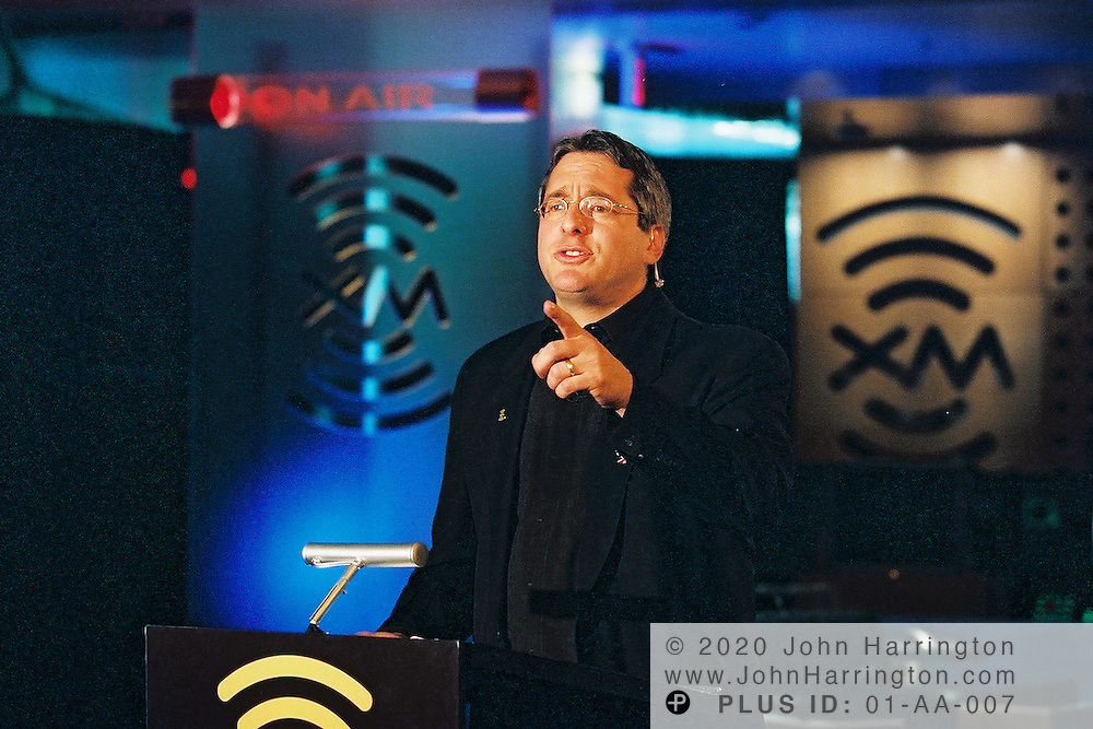 XM Satellite Radio CEO Hugh Panero prepares to launch his service on Tuesday September 25, 2001. .