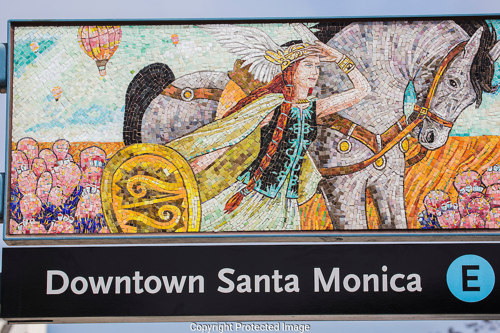 Expo Line artist tour. Culver City Station to Santa Monica.